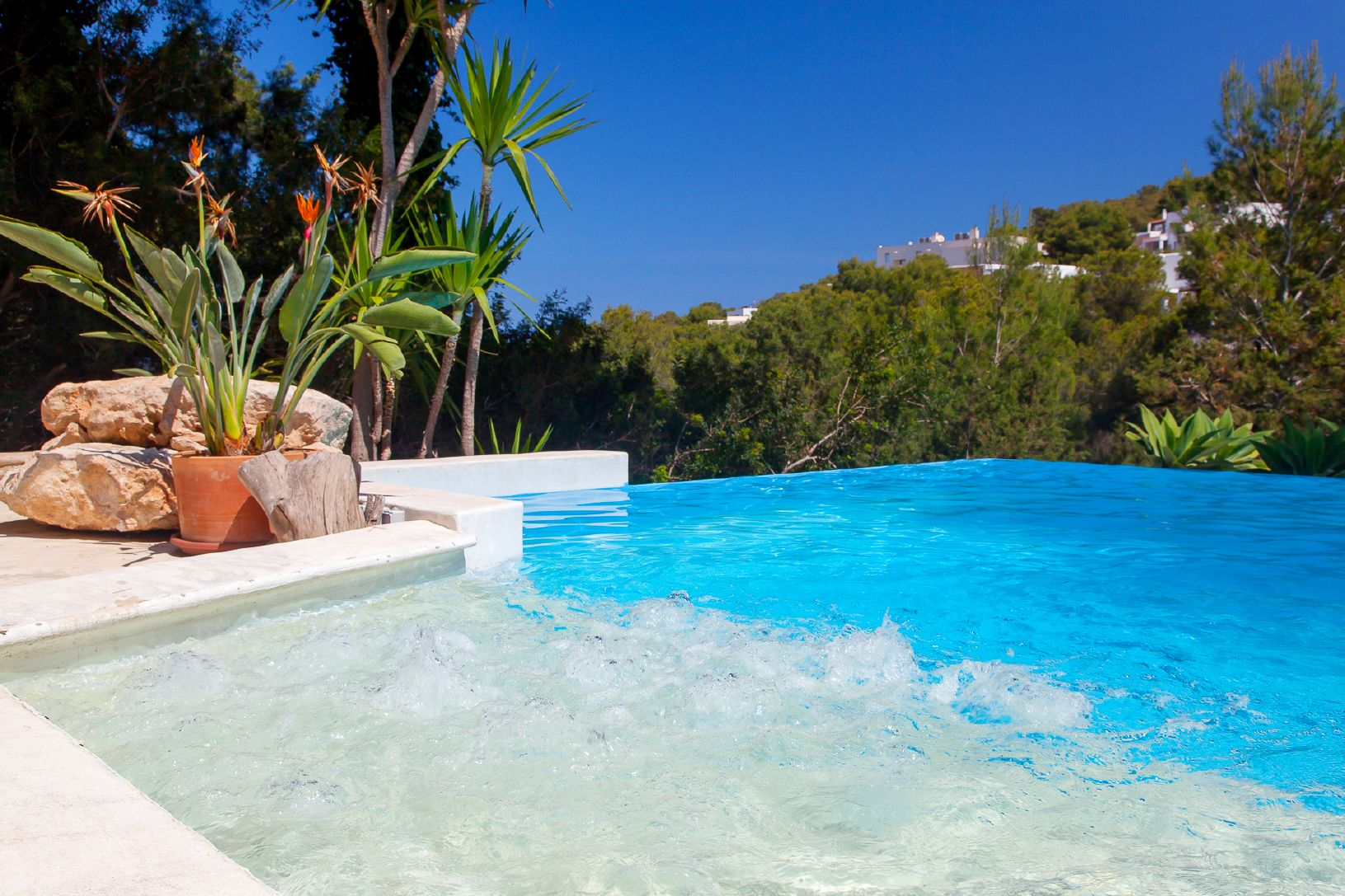 private pool for families and children in ibiza